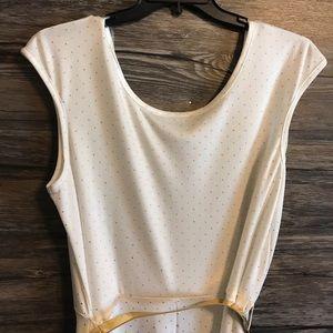 ad44cfb0703f3 Lane Bryant Dresses - Lane Bryant White and Gold Dress Size 18 20
